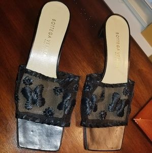 Bottega Veneta Sheer, Embroidered Slides